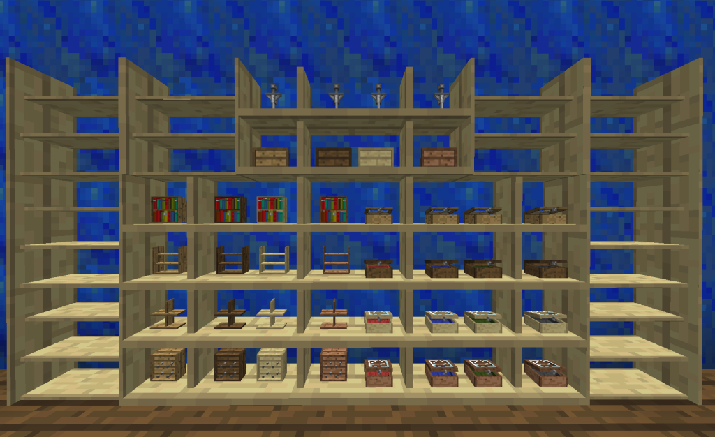 minecraft shelves mod