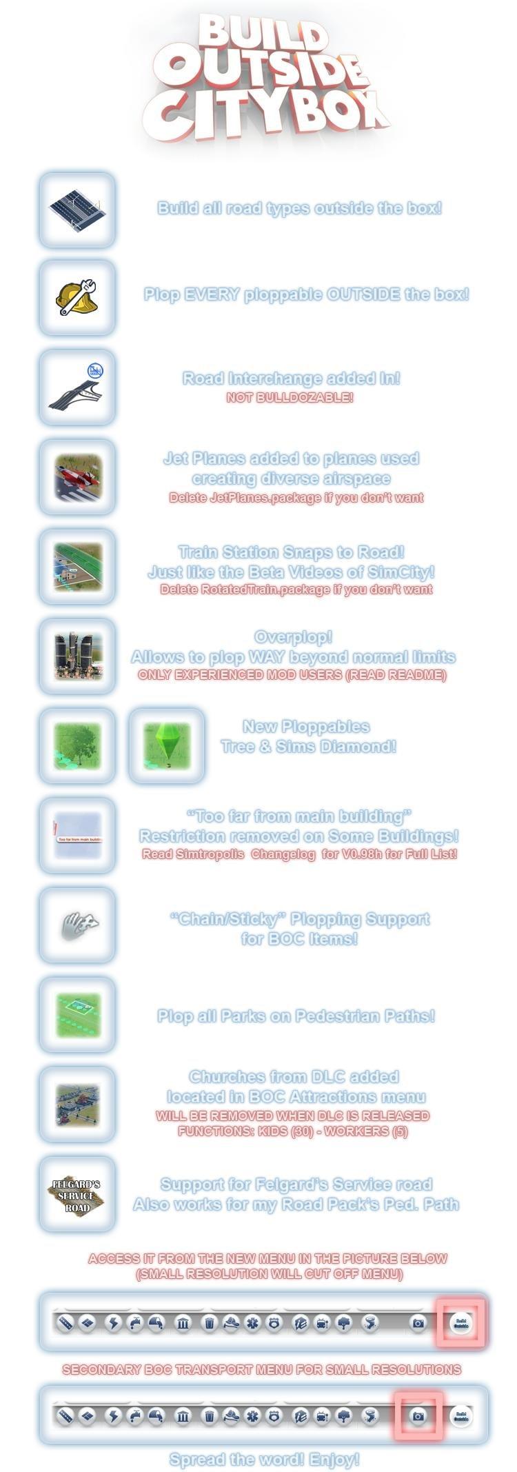 build outside city box sim city mod download