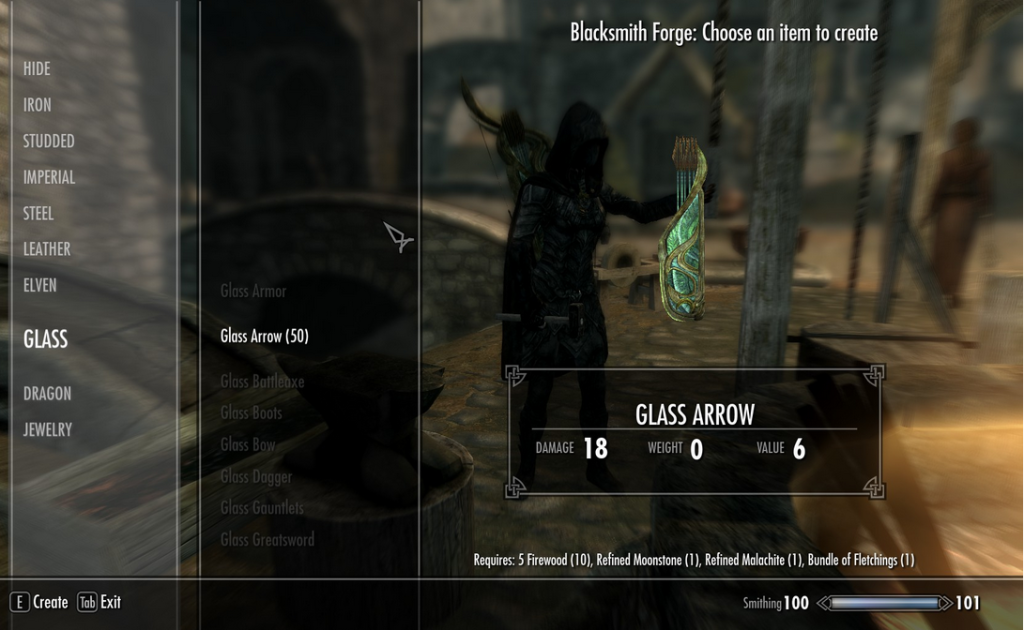 skyrim arrow making mod