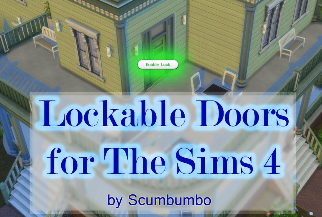 sims 4 door lock mod download